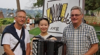 Hanzhi Wang gave a concert in Mons, Belgium