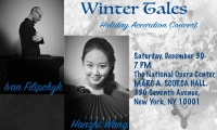 Hanzhi Wang and Ivan Filipchyk in NYC Concert on December 30